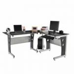HomCom 64″ L-Shaped Corner Computer Desk PC Laptop Table Office Workstation