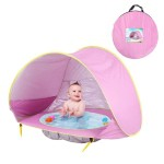 HOTUEEN Baby Beach Tent Pop Up Portable Sun Shelter with Pool