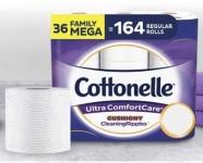 36-Ct Cottonelle Mega Rolls Ultra ComfortCare Toilet Paper