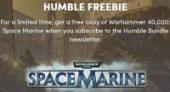 Free warhammer 40000 space marine at Humble Bundle