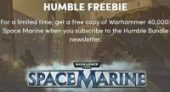 Free warhammer 40000 space marine at Humble Bundle