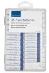 Insignia Alkaline Batteries: 24-Count AA + 12-Count AAA w/ Case