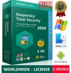 KASPERSKY TOTAL Security 2020 /2 Device /1 Year / Win-Mac-Android / GLOBAL – KEY