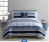 Mainstays Max Stripe Bed-in-a-Bag Full Comforter Set for $13.13 + pickup at Walmart