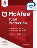 McAfee Total Protection – 5 Devices [Activation Card by Mail]-$29.99-@Amazon.com