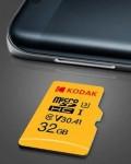 Kodak High Speed U3 A1 V30 Micro SD Card TF Card – Yellow 32GB $9.19