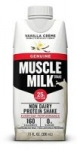 12-Pack 11oz Muscle Milk 25g Protein Shake (Vanilla Creme)