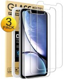 Mkeke Compatible with iPhone XR Screen Protector,Tempered Glass Film for Apple iPhone XR, 3-Pack Clear FREE