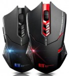 2.4G 2400DPI Adjustable Wireless Gaming Mouse 7 Buttons Backlight Quiet Mouse