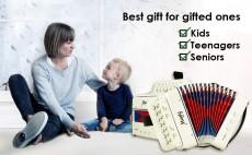 Mugig 10-Keys Kids Toy Accordion (White)