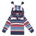 Navy & Red Stripe Hooded Sweater-$10.00-@jojomamanbebe