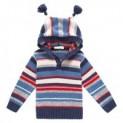 Navy & Red Stripe Hooded Sweater-$10.00-@jojomamanbebe
