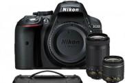 Nikon D5300 24.2 MP DSLR Camera w/ AF-P 18-55mm VR & 70-300mm Dual Lens & Case Bundle