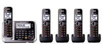 Panasonic Bluetooth Cordless Phone Digital Answering Machine w/ 5 Handsets