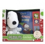 Peanuts Merry Christmas Charlie Brown Board Book w/ Snoopy Plush