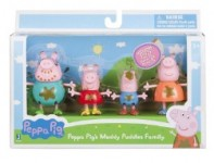 4-Count Peppa Pig Muddy Puddles Family Figure Pack