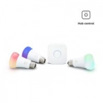 Philips Hue White & Color Ambiance LED Smart Light 3-Bulb Starter Kit