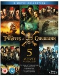 Pirates of the Caribbean: 1-5 Box Set (Region-Free Blu-ray)