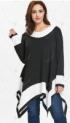 Plus Size Long Sleeve Handkerchief Tunic Top – Black – 5x-55% OFF