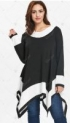 Plus Size Long Sleeve Handkerchief Tunic Top – Black – 5x-55% OFF