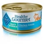 24-Pk 5.5oz Blue Buffalo Healthy Gourmet Wet Cat Food (Meaty Morsels Chicken)