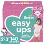 140-Ct Pampers Easy Ups Girls' Training Pants (2T-3T, Size 4)