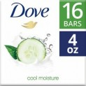 16-Count 4oz. Dove Moisturizing Soap Bars (Cucumber and Green Tea)