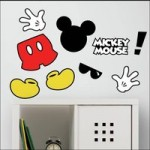 RoomMates Peel & Stick Removable Wall Decals: Mickey Mouse