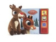Rudolph the Red-Nosed Reindeer Play-A-Sound Board Book w/ Plush Toy