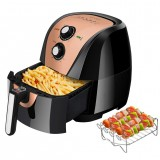 Secura Electric Hot Air Fryer and Additional Accessories(5.3Qt Gold) $74.99