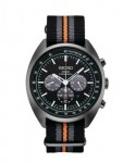 Seiko Recraft Men's Solar Chronograph Watch With Additional Brown Leather Band