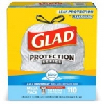 Select Prime Accounts: 110-Ct 13-Gallon Glad OdorShield Tall Trash Bags