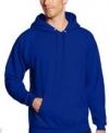 Men's Hanes Pullover Ecosmart Fleece Hooded Sweatshirt (Deep Royal)