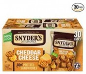 30-Ct 1oz Snyder's of Hanover Pretzel Sandwiches (Cheddar Cheese)
