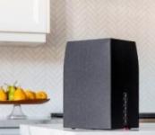 MartinLogan – Bravado 5″ Powered Wireless Speaker (Each) – Black/walnut