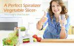 Spiralizer Vegetable Slicer – Best 5 Blade Heavy Duty Spiral Slicer, Zoodle Keto Pasta Maker-@Amazon