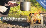 TOMSHOO Camping Wood Stove Portable Folding Lightweight Stainless Steel