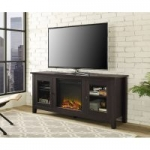 Traditional Wood Fireplace TV Stand for TVs up to 60″ Espresso