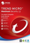 Trend Micro Maximum Security 12 (2019) 3 PC's- 1 Year Subscription | PC/Mac | Media less- Download $19.99 & FREE Shipping