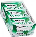 9-Pack of 16-Count Trident White Sugar Free Gum (Spearmint)