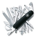 Victorinox Swiss Army SwissChamp 53503 Pocket Knife (Black) $49.68 + Free Shipping
